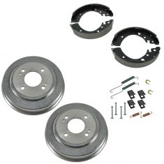 92-00 Multifit Civic; 07-08 Fit Rear Drums, Shoes & Hardware Kit Set