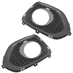 11-13 Kia Sorento Front Bumper Mounted Molded Black Plastic Driving Fog Light Bezel Pair(Kia)