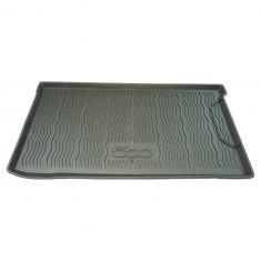 12-16 Fiat 500, 500C (w/o Beats Audio) Mld Blk Rubber ~500~ Logoed All Weather Cargo Area Tray (MP)