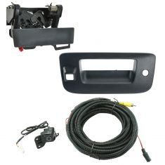 07-13 Silverado, Sierra New Body Blk Txtrd Rear View Back Up Camera Upgrade w/ Handle Kit (Add on)