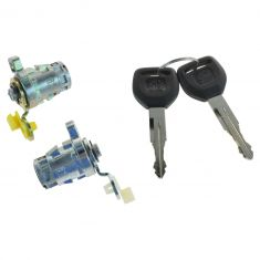 98-02 Accord; 99-04 Odyssey; 00-09 S2000; 01-05 Civic Front Door Lock Cylinders w/Keys SET