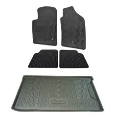12-16 Fiat 500, 500C (w/o Beat Audio) Mld Blk Rub ~500~ Logoed All Weather Floor Kit (Set of 5) (MP)