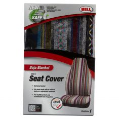 Bell Automotive: ~Baja Blanket Design~ Universal High Back Bucket Seat Cover LF = RF