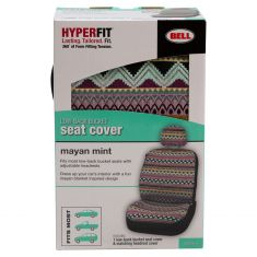 Bell Automotive: ~Mayan Mint Design~ Universal Low Back Bucket Seat Cover LF = RF