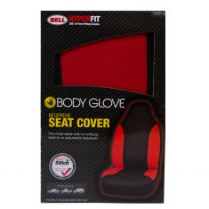 Bell Automotive: Body Glove Red Hyper-Fit Bucket Seat Cover LF = RF