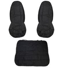 Dickies: TRADER Front Buckets, Rear Bench BLACK Heavy Duty CAR/SUV Universal Seat Cover (3 PCE SET)
