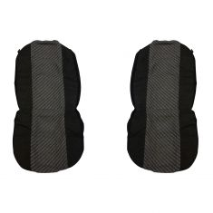 Dickies: MORRISEY Heavy Duty Universal Fit GRAY Bucket Seat & Headrest Cover (2 PIECE SET)