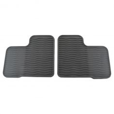 16-17 Fiat 500X Mld Black Rubber ~FIAT~ Logoed Front & Rear Premium Floor Mat Kit (Set of 4) (Fiat)