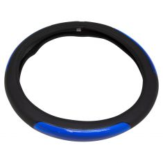 Bell Automotive: Black w/Blue Sport Gel Universal Steering Wheel Cover w/Hyper-Flex Core