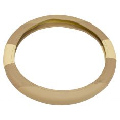 Bell Automotive: Two Tone Tan ~Stratos~ Design Universal Steering Wheel Cover w/Hyper-Flex Core