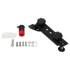 BOLT: 97-18 Jeep Wrangler Black Hi-Lift Jack Mount w/Lock (J-Mount RF) (Uses OE Ign Key)