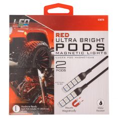 LED 2x4 Red Ultra Bright Magnetic Pod Lights