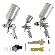 4 pc. HVLP Triple Setup Spray Gun Kit (Vapor)