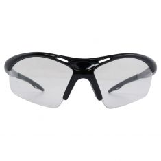 DIAMONDBACK: Light, Blk Frame High Impct w/ANTI FOG CLEAR Plycrbnte Lens Wrap Arnd UV Safety Glasses