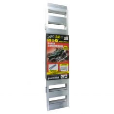 ERICKSON: (45 In x 69 In - 1500 LB Rating) Double Hinged Folding Aluminum Ramp w/(2) Safety Straps