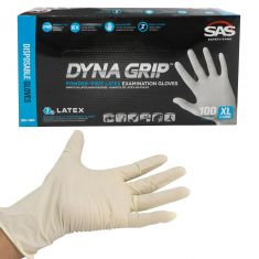 DYNA GRIP: Powder Free, Exam Grade, Fully Textured LATEX 7 MIL Gloves (100/BOX) (XLARGE)
