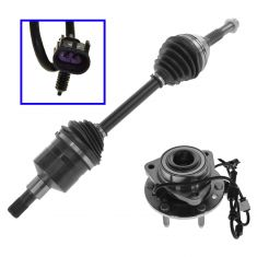 02-09 GM Isuzu Saab Mid Size SUV Front Axle Shaft & Wheel Hub Kit LH or RH