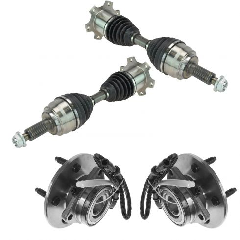 00-02 Ford Expedition; 00-02 Navigator Front CV Axle Shaft & Hub Assembly Kit (4