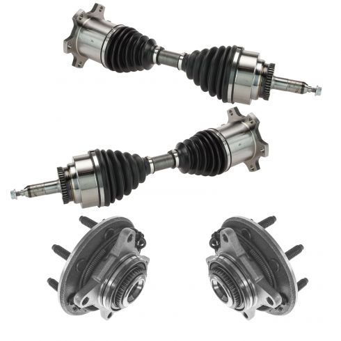 05-08 F150 (7 lug) Front Outer CV Axle Shaft & Hub Assembly Kit (4pc)