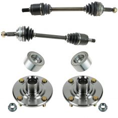 98-02 Honda Accord w/2.3L & MT Front CV Axle Shaft Assembly & Hub Kit