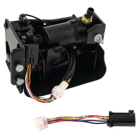 00-14 GM Full Size SUV; 03-06 Avalanche Complete Air Ride Susp Compressor Assy (w/Dryer and case)