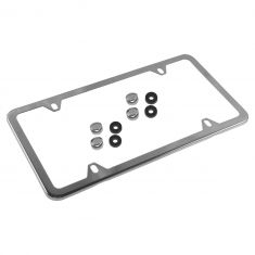 Mercedes Benz Polished Stainless Steel Slimline License Plate Frame (Mercedes Benz)