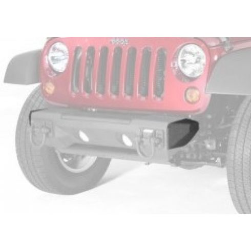All Terrain Steel Bumper Ends for Jeep Wrangler JK 2007-18 11542.23 Rugged Ridge