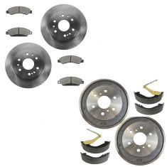 05-08 Chevy Silverado 1500, GMC Sierra 1500 6 Lug Front & Rear Ceramic Pad, Rotor & Drum Kit