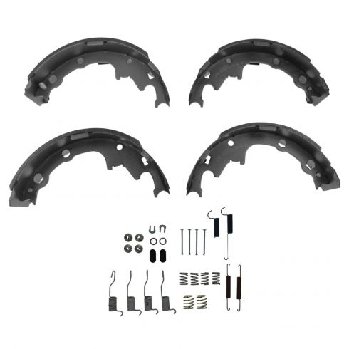 Rear Brakes Drums /& Shoes Kit Set for Grand Caravan Voyager Town /& Country