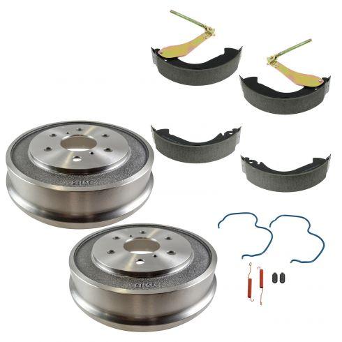 05-08 Silverado, Sierra 1500 (exc Hybrid) Rear Drum/Shoe/Hardware Set