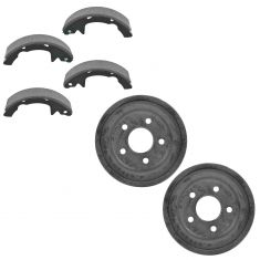 92-00 Ford Taurus, Mercury Sable Sedan Rear Brake Drum & Shoe Set