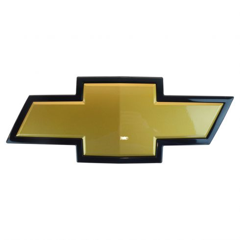 GMBEE00026-Chevy Grille Mounted Gold & Black Bowtie Emblem