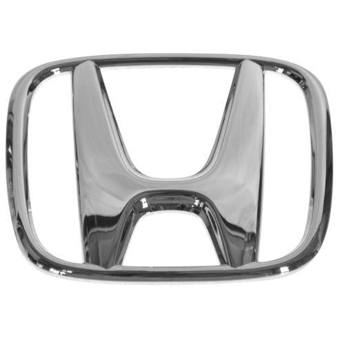 03-07 Accord Sdn; 05-07 Accord Hyb; 05-09 CR-V Grille Mtd Chrm ~H~ Logoed Adh Nameplate Emb (Honda)