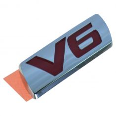 03-07 Accord; 05 Accord Hyb Trunk Lid or Rear Bmpr Mtd Red & Chm ~V6~ Logoed Adh Nameplate (Honda)