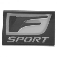 14-15 Lexus IS250, IS350; 15 RC350 Fnder Mounted Black & White ~F SPORT~ Nameplate Emblem LF (Lexus)