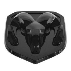 13-14 Ram 1500, 2500, 3500 Rams Head Black Grille Emblem (Adhesive Style) (MOPAR)