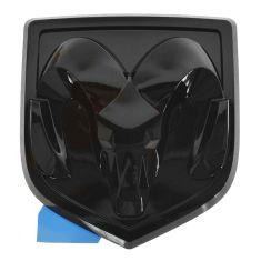13-14 Ram 1500, 2500, 3500 Rams Head Black Tailgate Emblem (Adhesive Style) (MOPAR)