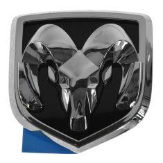 04-09 Dodge Dakota, Durango Rams Head Chrome & Black Grille Emblem (Adhesive Style) (MOPAR)