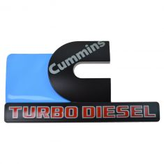 15-16 Ram 2500, 3500 Fdr Mtd Blk, Gray, Red ~Cummins TURBO DIESEL~ Logoed Adh Nameplate LF = RF (MP)