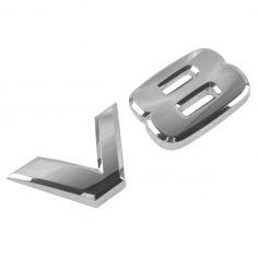 05-10 QX56 Fender Mtd; 05-14 Armada Frt Dr Mtd Chrome ~V8~ Adhesive Nameplate Emblem LF = RF (Nis)