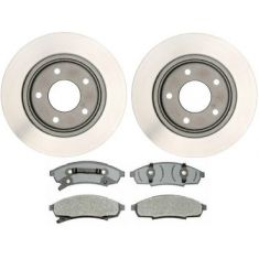 1995-01 Regal Lumina Cutlass Grand Prix Monte Carlo Brake Pad & Rotor Kit Front for 11.25 Inch Rotor
