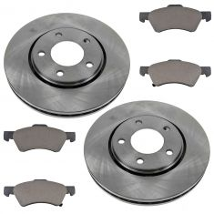 2001-07 Town & Country Grand Caravan Brake Pad & Rotor Kit Front for Vans With 4