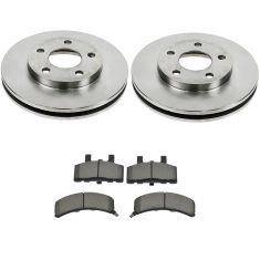 90-93 Cadillac Fleetwood Brake Pad and Rotor Kit Front