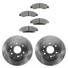 05-09 GM Full Size Truck (w/Rear Drum) Ceramic Front Brake Pad & Rotor Set