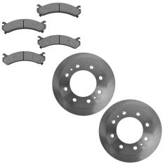 FRONT Semi-Metallic Disc Brake Pad & Rotor Kit (AX55062 & AXMD784)