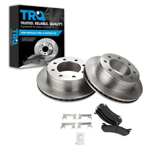 REAR Semi-Metallic Disc Brake Pad & Rotor Kit (AX55055 & AXMD785)
