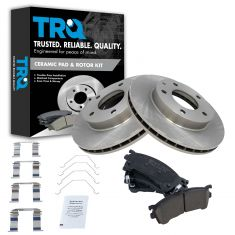 Front Disc Brake Rotor & Pad Set AX31052, XCD637