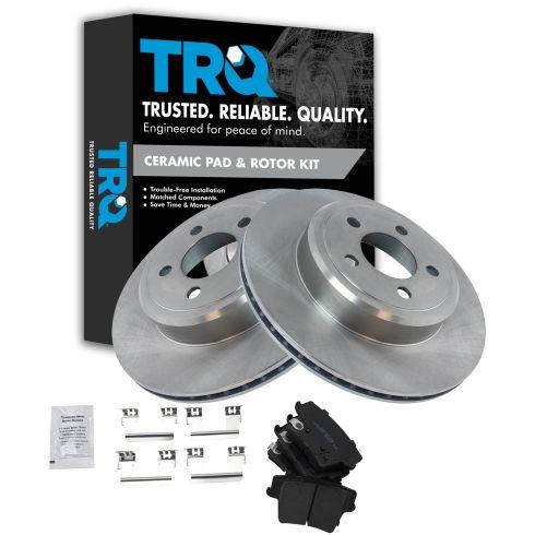 Rear Disc Brake Rotor & Premium Posi Ceramic Pad Set
