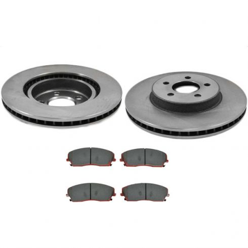 Fits:- Liberty 5lug Front Rotors 2 OEM Replacement Disc Brake Rotors High-End