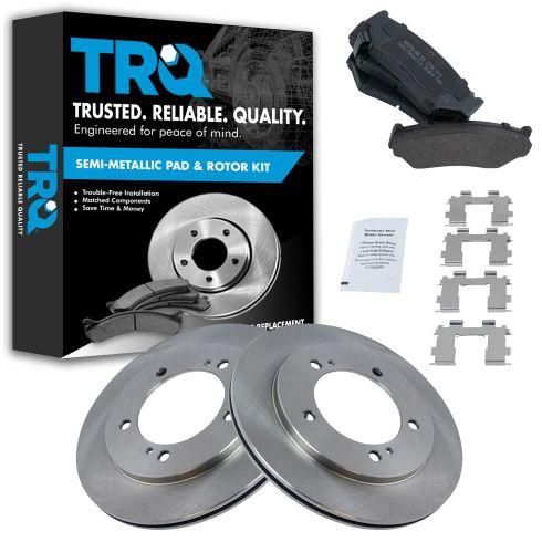 Front Disc Brake Rotor & Pad Set AX55060, AXMD556